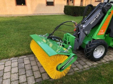 Broom for mini loader