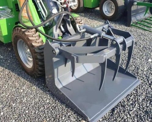 Grapple bucket for mini loader
