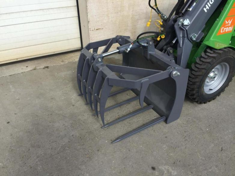 Grapple rake for mini loader