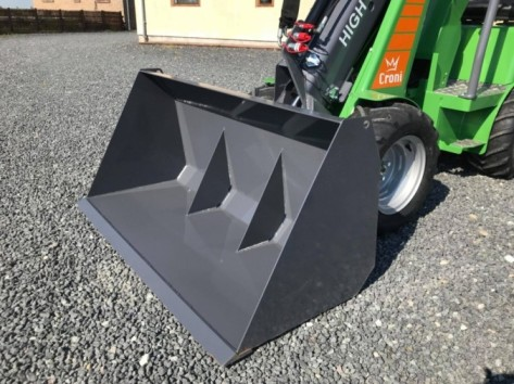 Light material bucket for mini loader