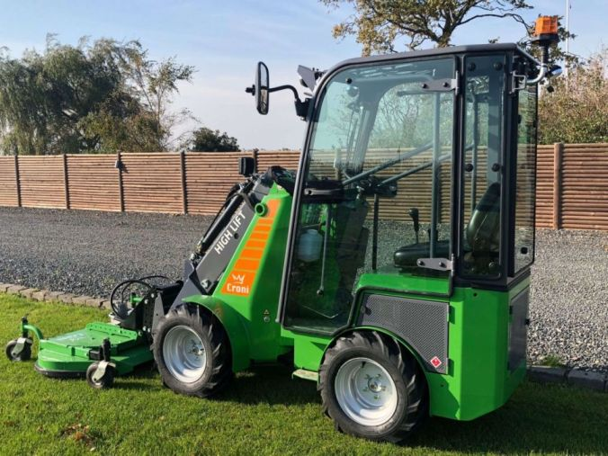 Mini loader with lawn mower