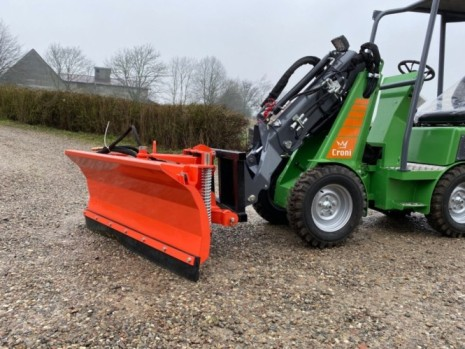 Snow plow for mini loader